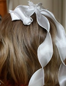 communion flower girl ribbons wreaths headpieces dianna castner bridal