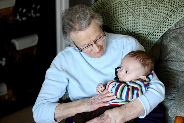 Great Grandma Gougeon & Elliot