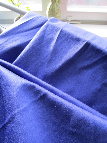 My blue cotton sateen