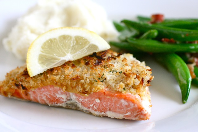 crusted wild salmon edamame mash quick and easy pecan crusted dijon ...