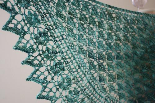 Sneak peek:  Soleil shawlette!