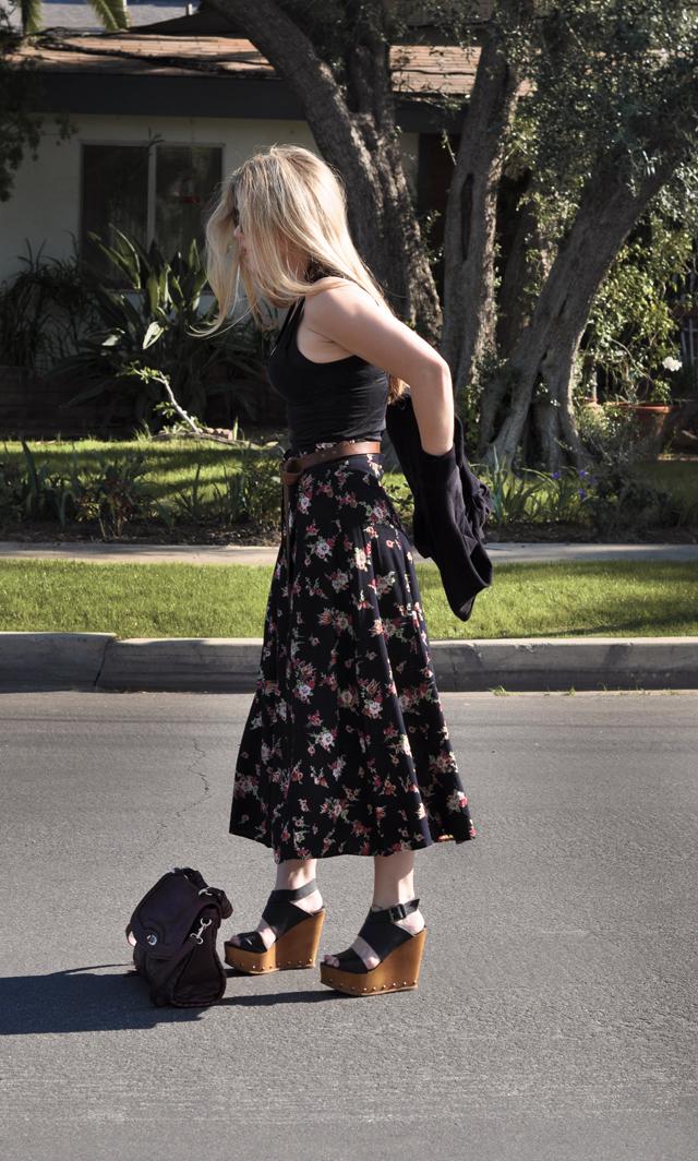 long skirt and cardigan