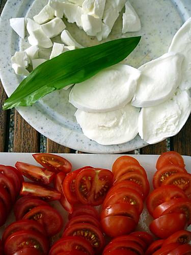 Bärlauch-Tomaten-Mozarelle