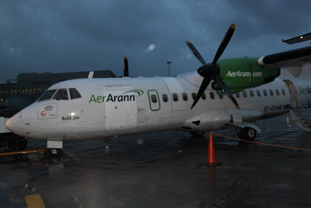 My putt-putt plane (in the rain) from Dublin to Edinburgh