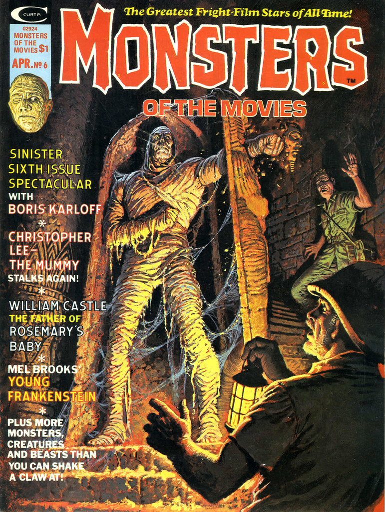 Monsters Of The Movies, Issue 6 (1975) Cover Art by Luis Domingquez