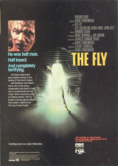 The Fly on VHS and Laser Videodisc (1987) by Paxton Holley