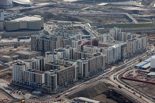 An aerial view of the Athletes' Village
