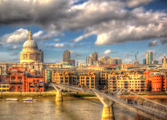 London city HDR . the view from the Tate