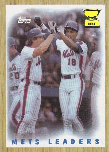Baseball Card Bust Mets Leaders 1987 Topps