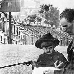 Ted Carnell Reading Proofs On Plumstead Common in 1953. (Jim Linwood) Tags: ballard sciencefiction plumstead newworlds tedcarnell