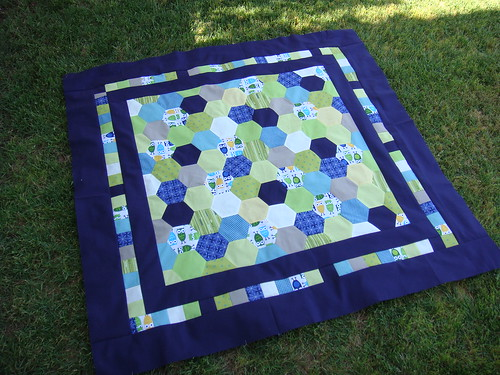 Hootie Hexagon Baby Quilt