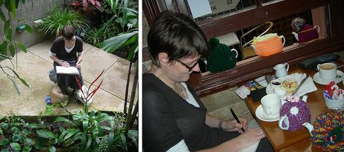 Sketchcrawl 31 Liz sketching 1