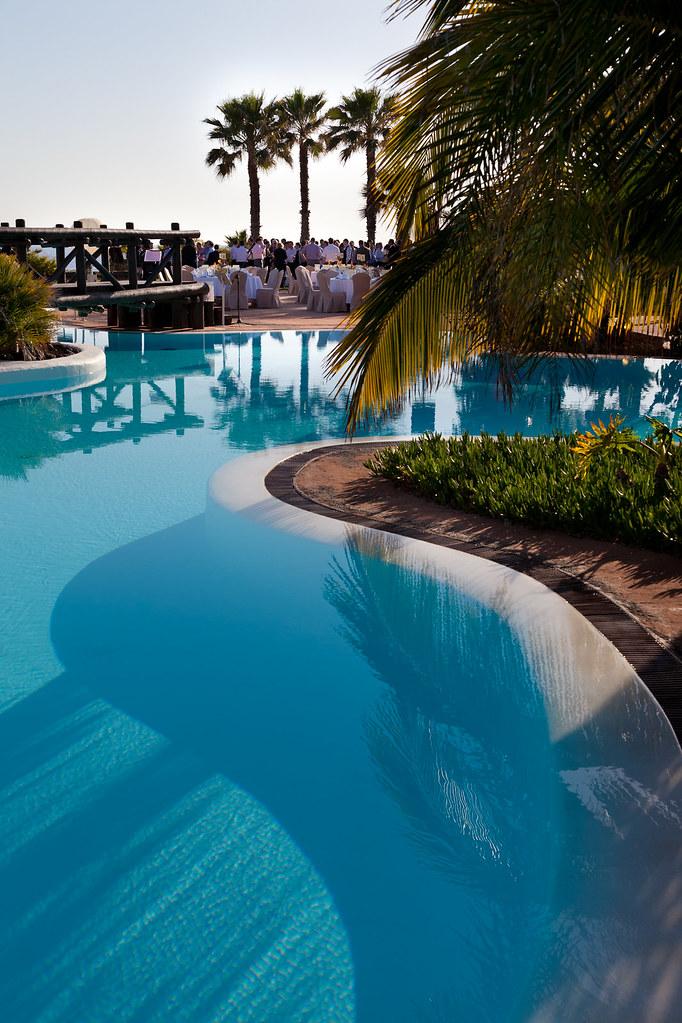 Evento/Event, table set up, dinner, pool area, Sheraton La Caleta