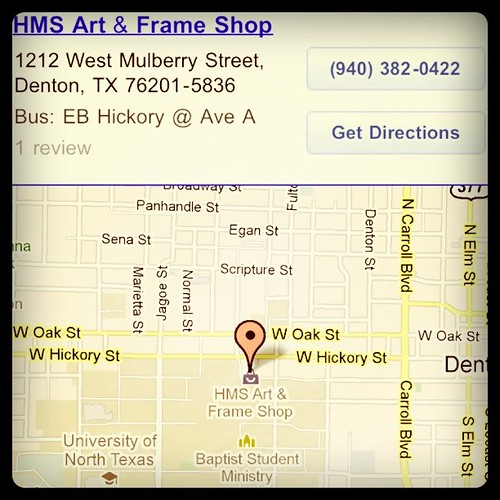 HMS Art and Frame Shop in Denton TX