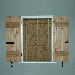 Board And Batten Shutters Board And 2 Faux Wood Window