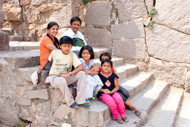 Family at Golconda Fort