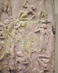 Victory Stele of Naram-Sin with detail of tree