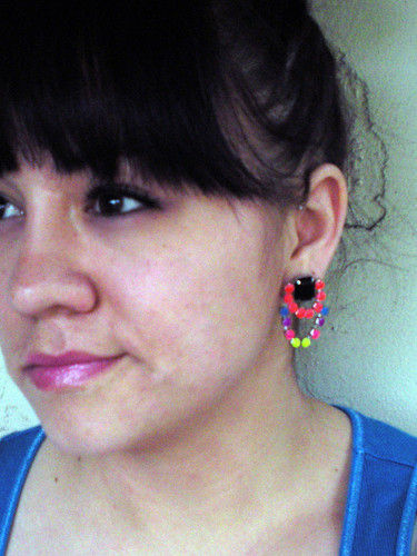 diy hand-painted crystal earrings