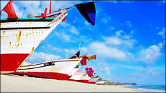 DSC01679- In The Line (AquariusVII) Tags: blue beach daylight boat fisherman malaysia tj perahu terengganu kualaterengganu nelayan baturakit aquariusvii e18200mmf3563oss sonynex5 tjlens tjlenspicture