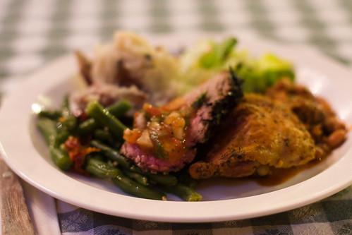 Tri tip dinner