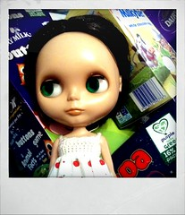 Marcia was tagged! (sozzielou) Tags: red white green easter polaroid milk eyes doll 2000 dress chocolate buttons side crochet egg like marcia samsung s cadbury galaxy eggs apples blythe brunette dairy glance takara nestle ebony android wispa rbl milkybar retrocamera primadolly xolaroid