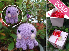 octo ...SOLD (skrappylou) Tags: hello sea cute bunny love cup mushroom water coffee animal fruit forest puppy cherry toy stuffed keychain doll phone sweet handmade girly treats crochet cell kitty charm banana cutie polka dot plush yarn coco gift donut kawaii plushie strap mug sweets characters treat shroom cuteness cocoa amigurumi fruity skrappylou