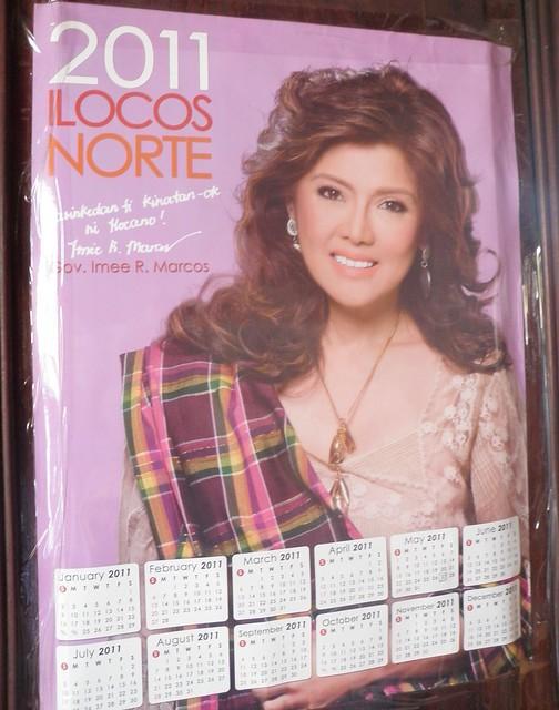 Imee Marcos calendar