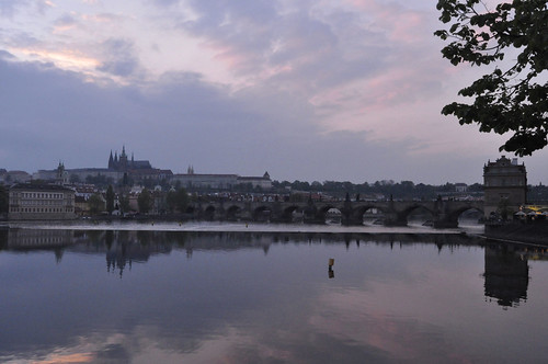 Charles Bridge at sunset