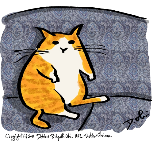 Daily Doodle: Fat Couch Cat