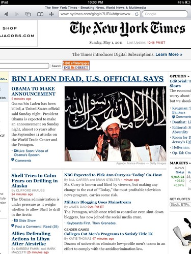 History Made: Osama Bin Laden Confirmed Dead