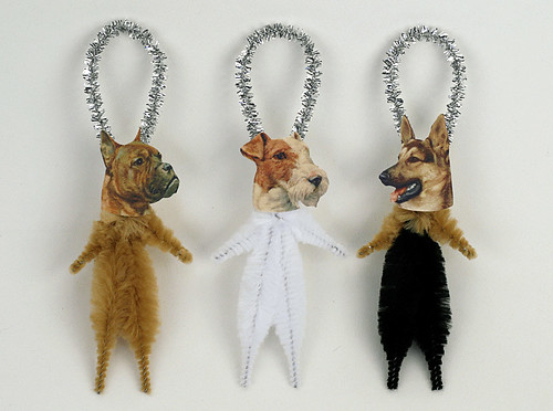 Chenille Dog Ornaments