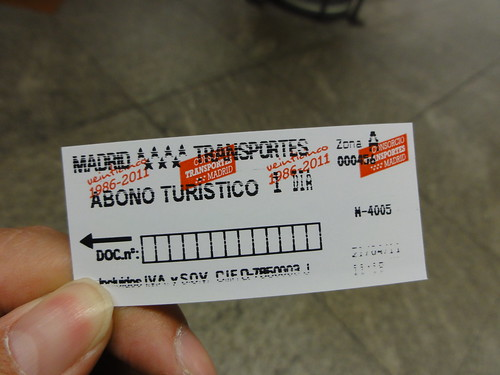Madrid Metro 1 Day Ticket