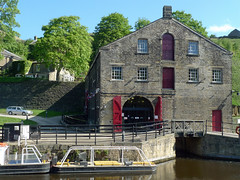 Standedge Visitor Centre (jrw080578) Tags: trees buildings boats canal yorkshire huddersfieldnarrowcanal