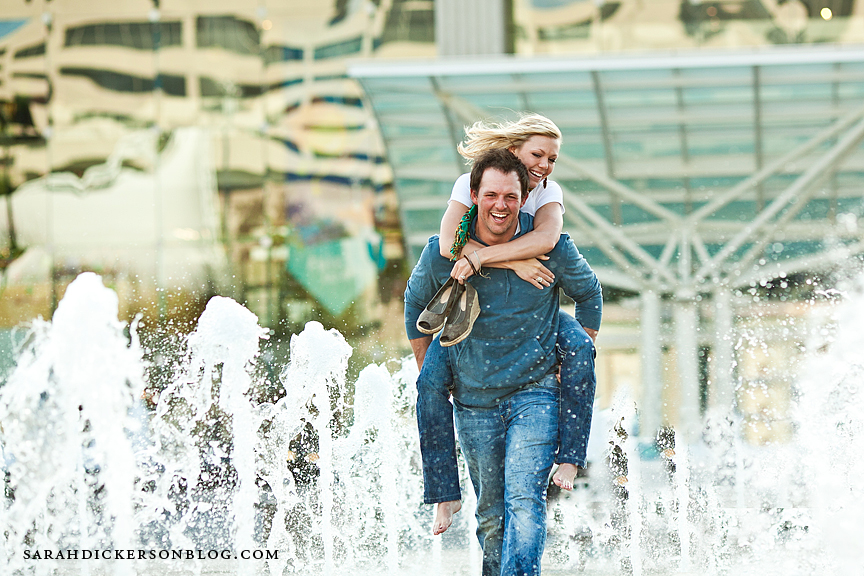 Crown Center engagement photography