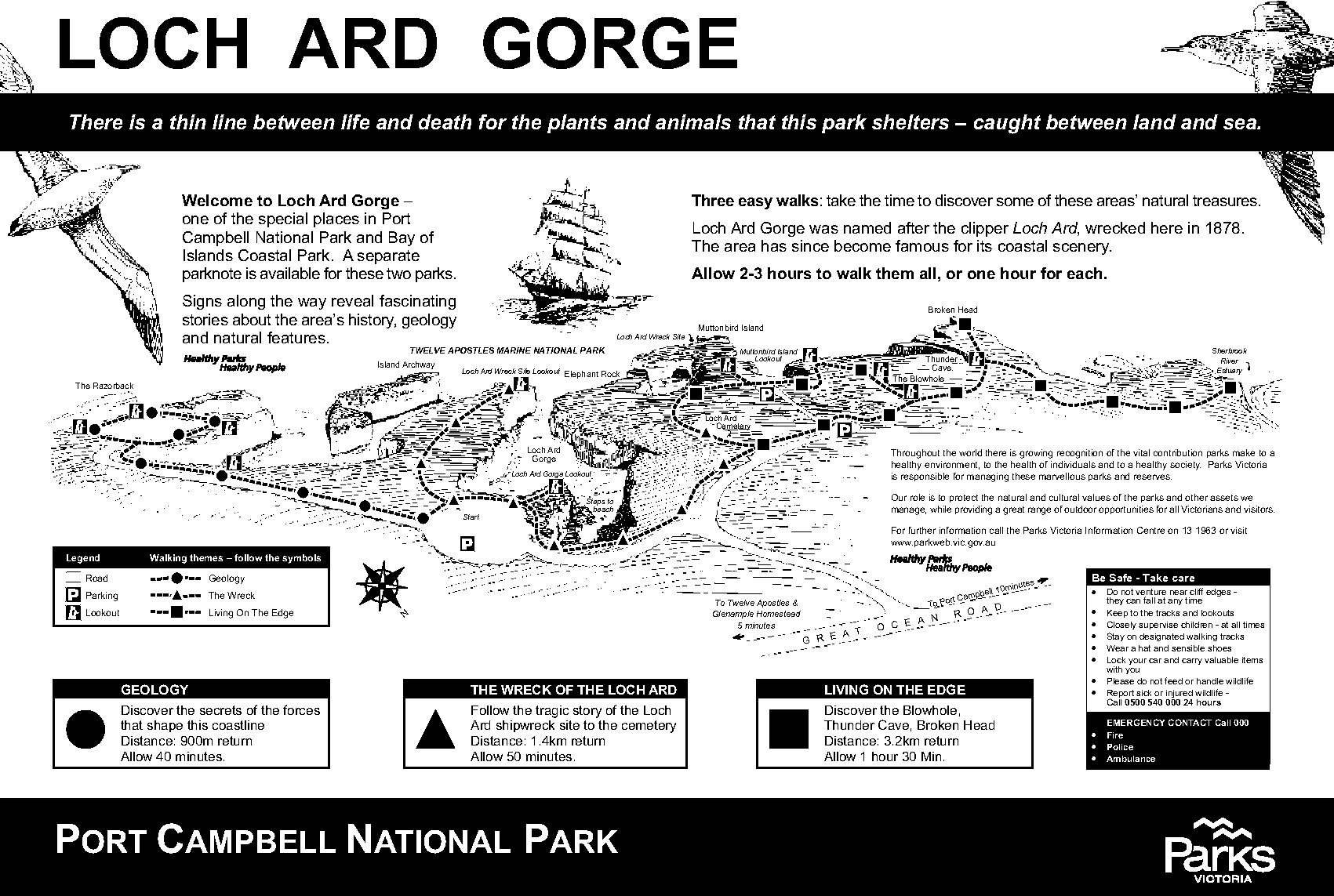 Loch Ard Gorge Walk Trails Map