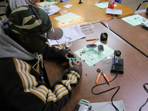 "Soldering an amp PCB • <a style=""font-size:0.8em;"" href=""http://www.flickr.com/photos/52992303@N05/5686013546/"" target=""_blank"">View on Flickr</a>"