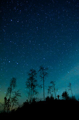 Fly Away (Mikko Lagerstedt) Tags: blue red color green art nature colors beautiful field silhouette night suomi finland dark lens stars landscape person photography photo nikon colorful view darkness natural image photos unique fineart fine award mikko waterscape d7000 lagerstedt