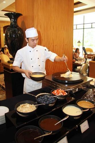 Crepe, waffle and pancake station