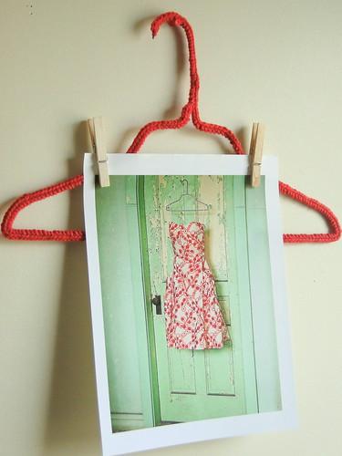 crocheted hanger