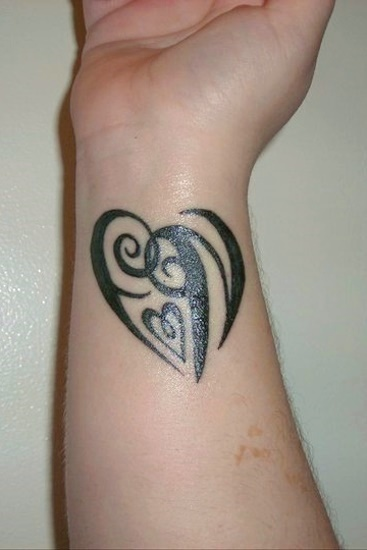 """FN"" Heart Design Tattoo"