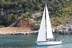 sea white boat portovenere