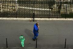 bleu (Olivier Dubrasquet) Tags: world life street people paris france trash can poubelle vie