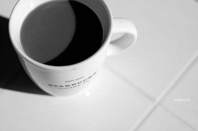 coffee b & w