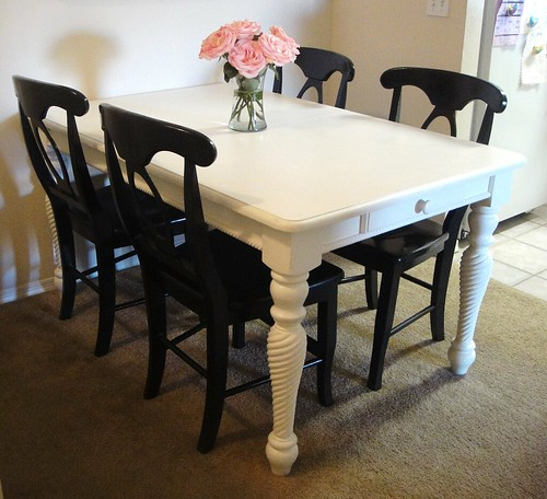 Dining table and chairs revamped2