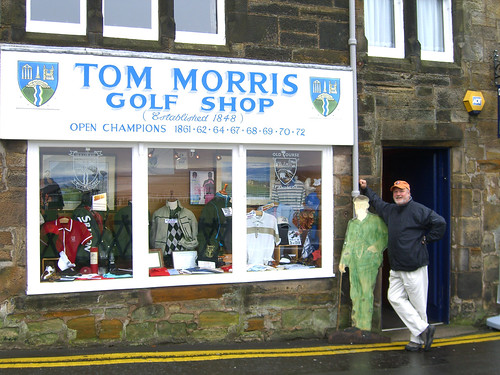 Jeff in front of Old Tom's Golf Shop