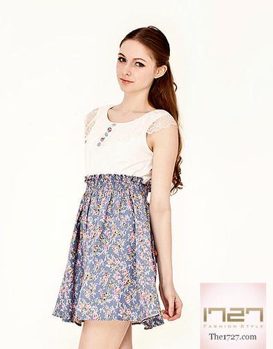 womensclothing onepiecedress 2in1dress laceneckdress printeddenimdress shearedwaistdress