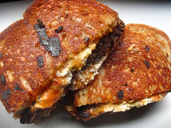 The Rancher | Patty Melt with Cheddar and Goat Cheeses on Rye (KAC NYC) Tags: cheese bread lunch beef goat rye sharp butter melt buttered grilled patty meet cheddar cheeses kac pattymelt quickpost cookingin therancher nationalgrilledcheesemonth nationalburgermonth phude kacnyc phudenyc