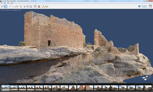 Autodesk Project Photofly 3D Model of Hovenweep Castle Ruins
