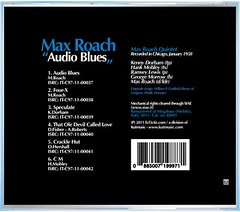 "Max Roach - ""Audio Blues"" CD (back)"