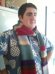 I made a Tom Baker #doctorwho scarf :-)